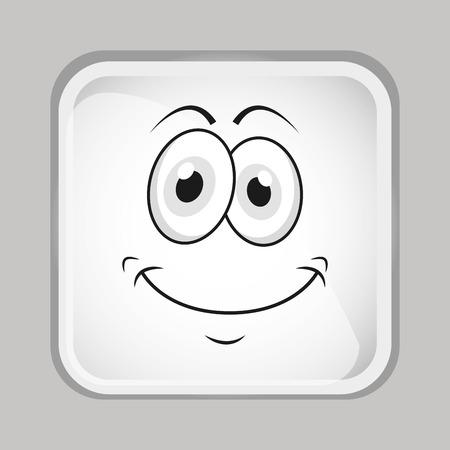 emoticon face design, vector illustration Zdjęcie Seryjne - 44437272