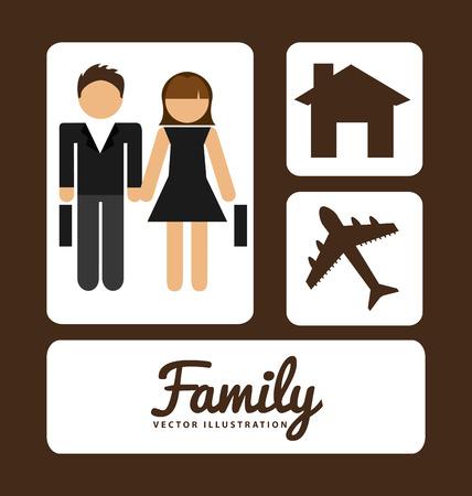 album: family album design, vector illustration
