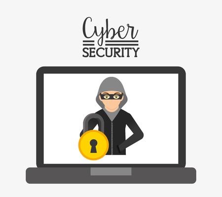 cyber security: cyber security design, vector illustration