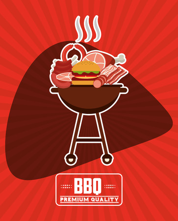 carniceria: diseño del menú carnicería, ilustración vectorial Vectores