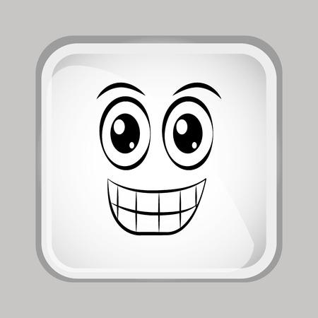 이모티콘 얼굴 디자인 스톡 콘텐츠 - 45035683