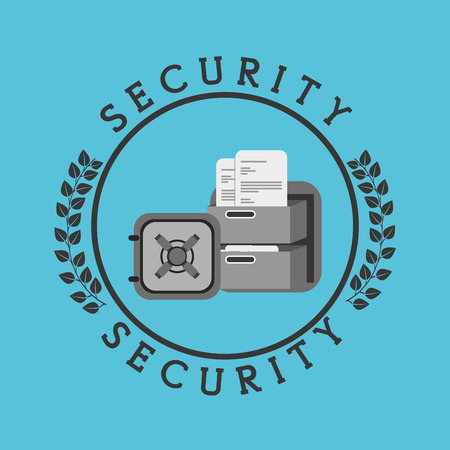 guard box: security concept design Illustration