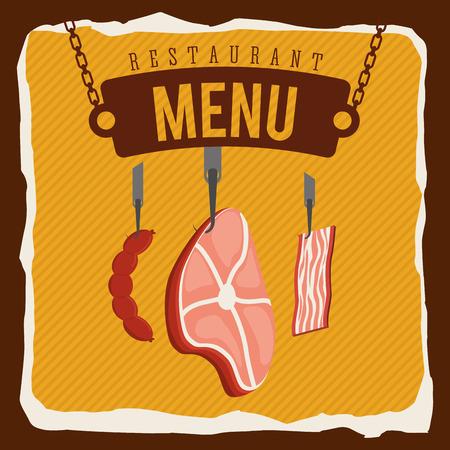 carnicería: diseño del menú carnicería Vectores