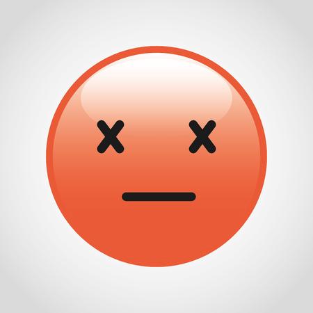 cara triste: diseño de la cara del emoticon