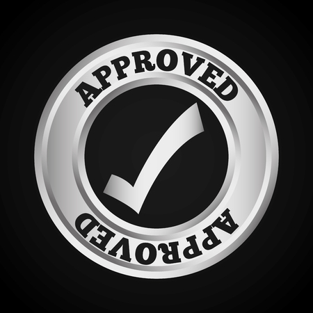 seal of approval: approved seal design, vector illustration eps10 graphic