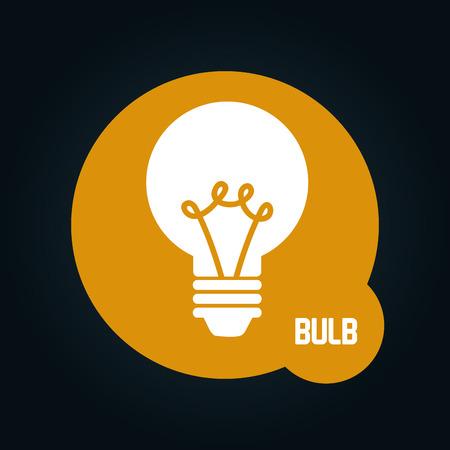 halogen: bulb icon design, vector illustration eps10 graphic Illustration