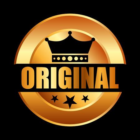 authenticity: original seal design, vector illustration eps10 graphic