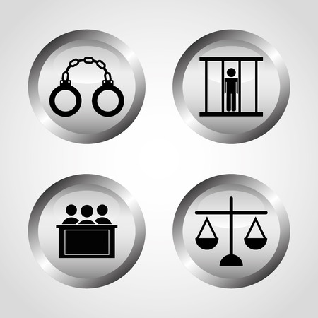 handcufs: justice icons design, vector illustration eps10 graphic Illustration