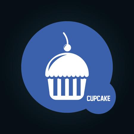 cupcake illustration: cupcake icon design, vector illustration eps10 graphic