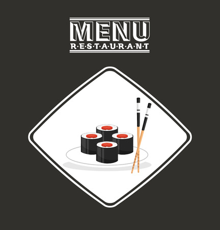 menu japanese food design, vector illustration eps10 graphic Illusztráció
