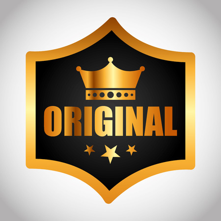 original: original seal design, vector illustration eps10 graphic