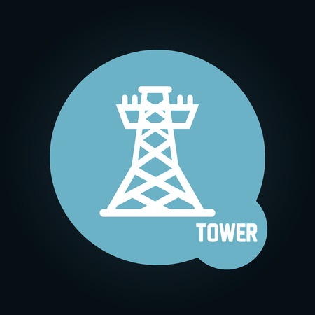powerlines: tower icon design, vector illustration eps10 graphic