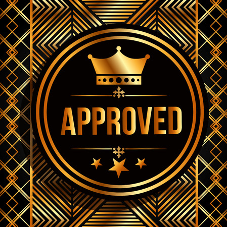 permission granted: approved seal design, vector illustration eps10 graphic