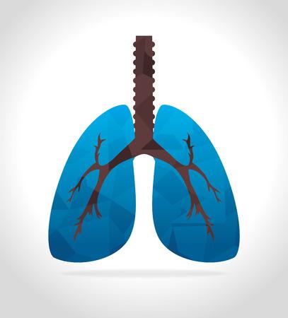 bronchial: Medical healthcare digital design,  over white background vector illustration. Illustration