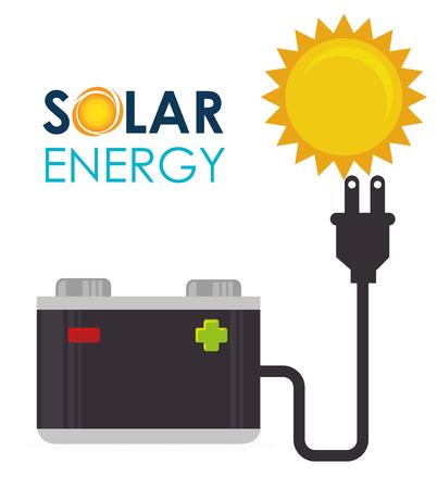 solar power: Green energy design, vector illustration eps 10.