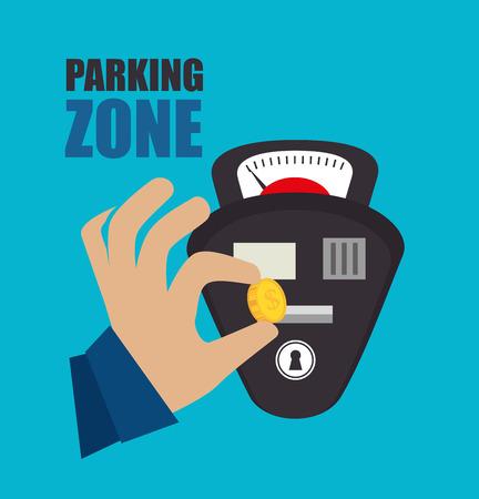 car parking: Parking zone design, vector illustration eps 10.