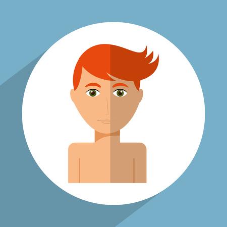 swiming: avatar male design, vector illustration eps10 graphic