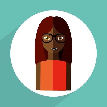 girl glasses: avatar female design, vector illustration eps10 graphic