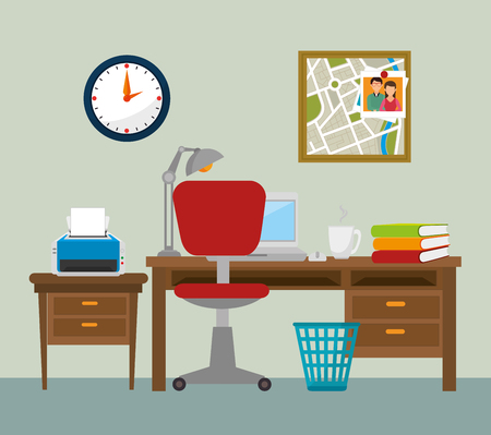 designer chair: Work office design, vector illustration eps 10.