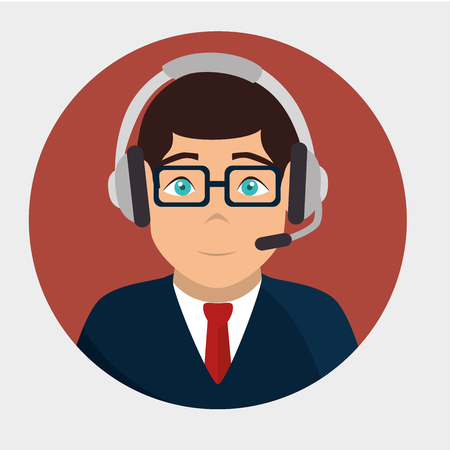 business service: Customer service design, vector illustration eps 10.