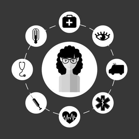 termometer: avatar female design, vector illustration eps10 graphic
