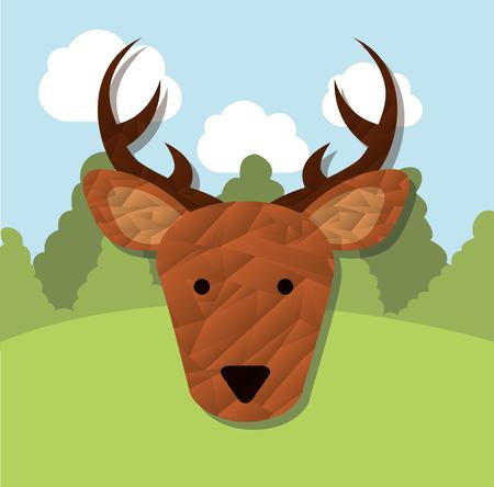 chunk: animal cute design, vector illustration eps10 graphic Illustration