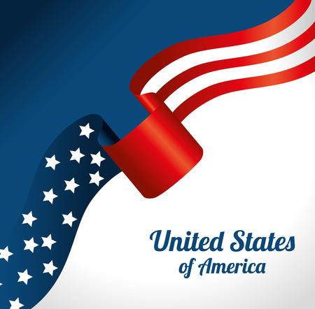 blue stripe: USA digital design, vector illustration eps 10.