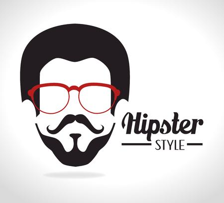 mister: Hipster lifestyle design, vector illustration eps 10. Illustration