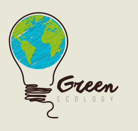 energy save: Go green design, vector illustration eps 10.