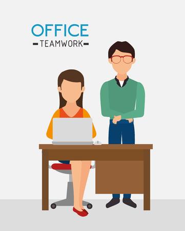 office work: Work office design, vector illustration eps 10.