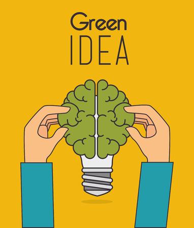 Go green design, vector illustration eps 10.