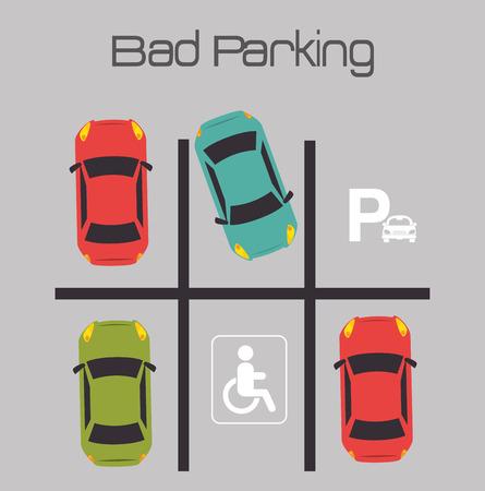 car park: Parking zone design, vector illustration eps 10.