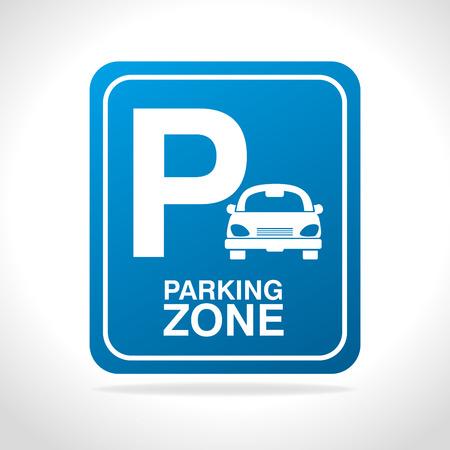 Parking zone design, vector illustration eps 10.