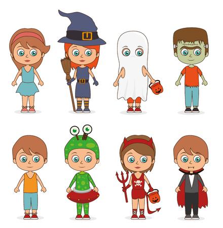 creepy alien: Halloween party design, vector illustration eps 10.