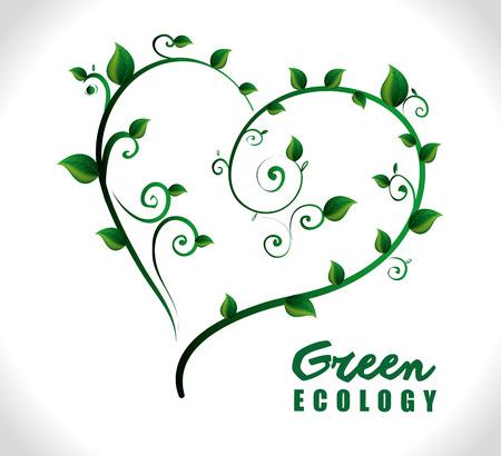 passion ecology: Go green design, vector illustration eps 10.