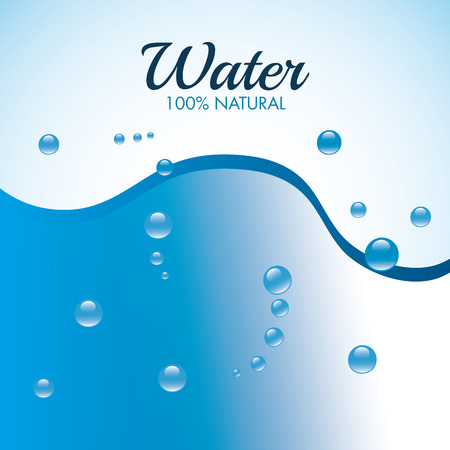water waves: Natural water design, vector illustration eps 10.