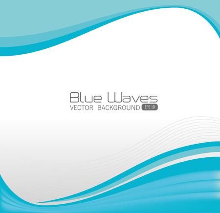 curvas: Dise�o olas azules, ilustraci�n vectorial eps 10.