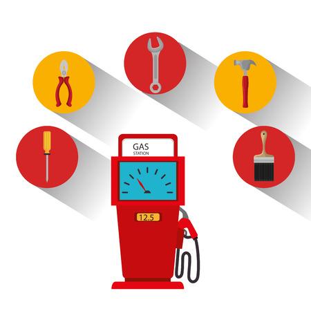 environmental contamination: Petroleum industry design, vector illustration eps 10. Illustration