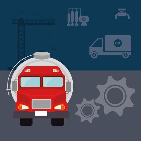 petroleum: Petroleum industry design, vector illustration eps 10. Illustration