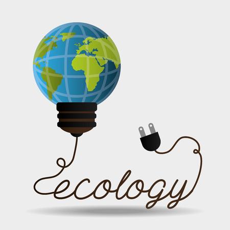 environmental contamination: green energy design, vector illustration eps 10.