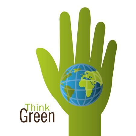 safe world: green energy design, vector illustration eps 10.
