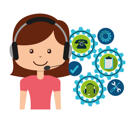 callcenter: customer service design Illustration