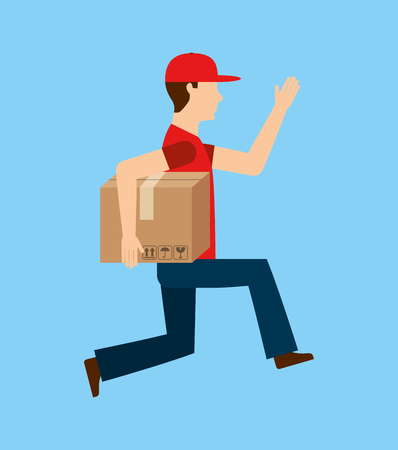 delivery service design Illustration