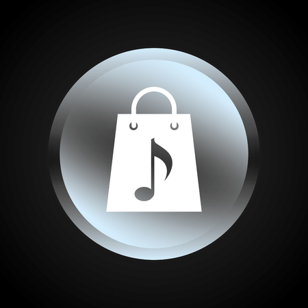 digital music: digital music design Illustration