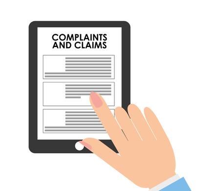 finance department: complaints and claims design Illustration