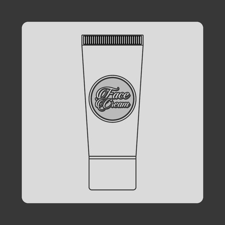 scrub: facial scrub design Illustration