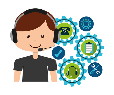 customer service design Illustration