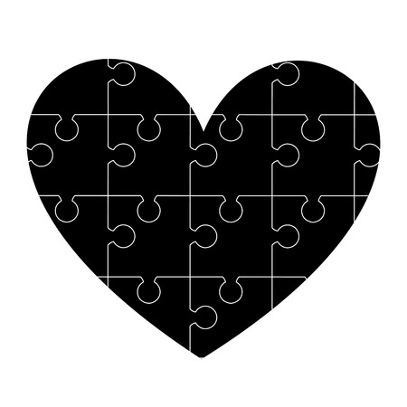 heart puzzle: heart puzzle design Illustration