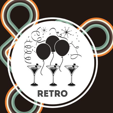 wine trade: retro party design