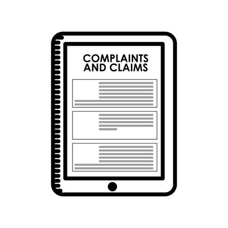 complaints: complaints and claims design Illustration